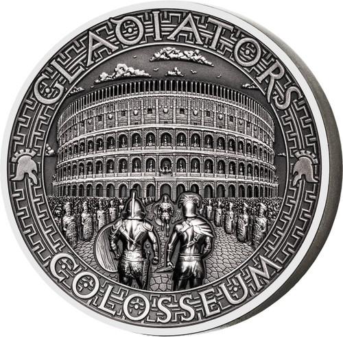 COLOSSEUM Gladiators 2 Oz Silver Coin