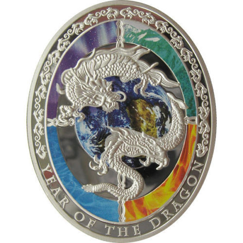 YEAR OF THE DRAGON 1$ Silver Proof Coin Niue 2012