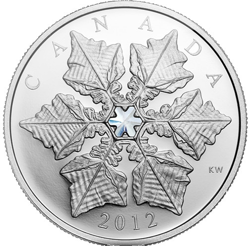 Crystal Snowflake Fine Silver $20 Coin Canada 2012