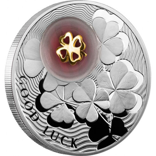 Four-Leaf Clover Lucky Coins II 2$ Silver Proof Coin Niue 2012