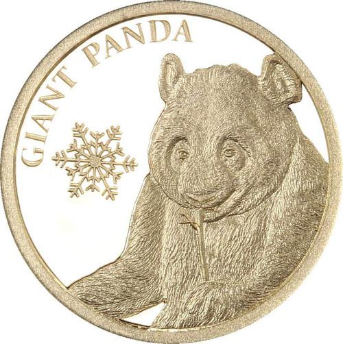 Giant Panda  Snowflake Bear 0.5g Pure Gold Coin Tokelau 2017