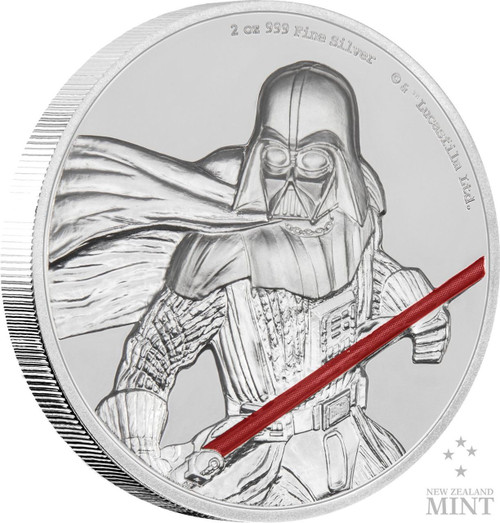 DARTH VADER Star Wars 2 Oz Silver Coin 5$ Niue 2017