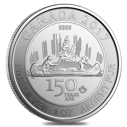 VOYAGER Canada's 150th Special Edition 1 oz Silver Coin 2017
