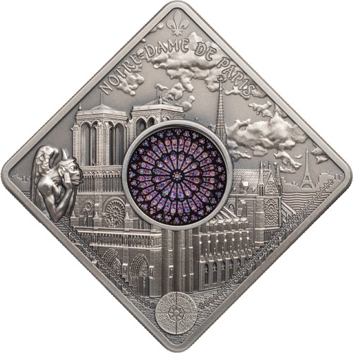 NOTRE DAME CATHEDRAL Sacred Art Silver Coin 10$ Palau 2017