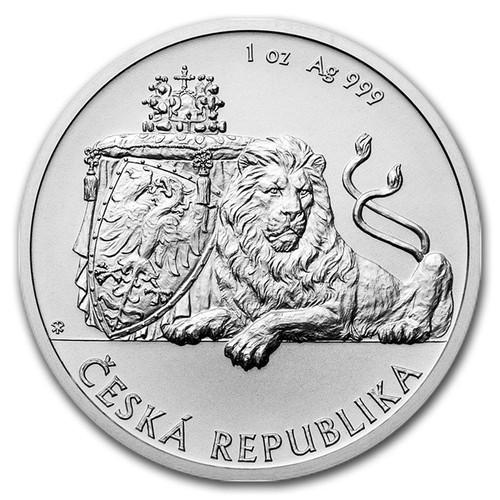 CZECH double-tailed LION - 2017 1 oz Silver Coin Niue 2017
