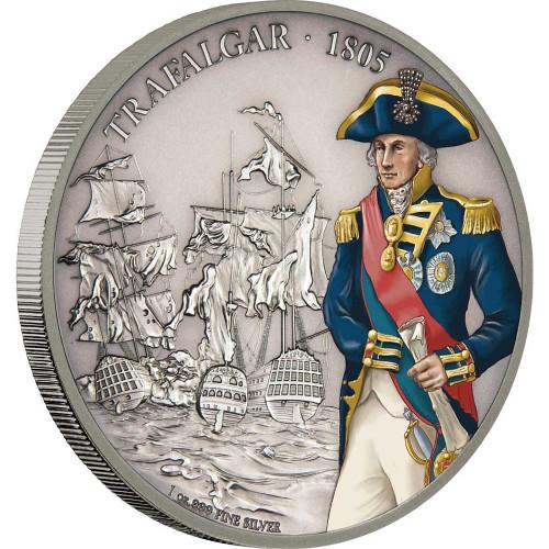BATTLE OF TRAFALGAR Battles of History 1 Oz Silver Coin 2$ Niue 2017