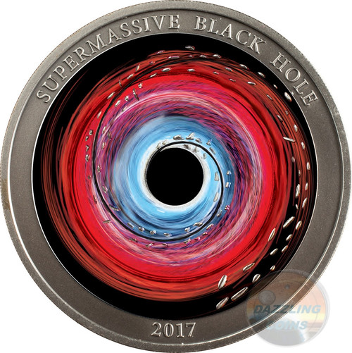 SUPERMASSIVE BLACK HOLE 1 Oz Silver Coin 2$ Niue 2017