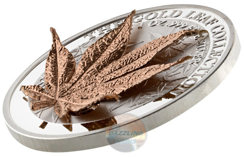 JAPANESE MAPLE 3D Gold Leaf Collection 1 Oz Silver Coin 5$ Samoa 2017