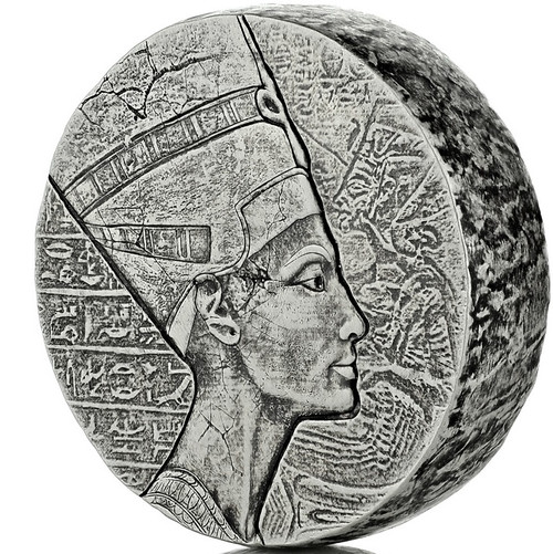 QUEEN NEFERTITI Egyptian Relic 5 oz Silver Proof Coin 2017 Chad