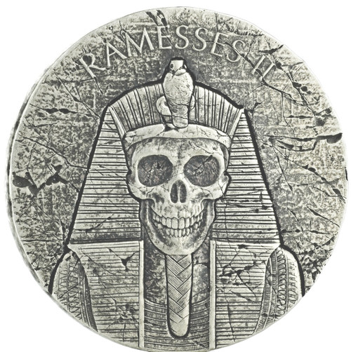 RAMESSES II After Life Egyptian Relic 2 oz Silver Coin 2017 Chad