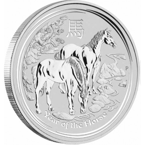 2014 Year of the HORSE 1/2 oz BU Silver Coin