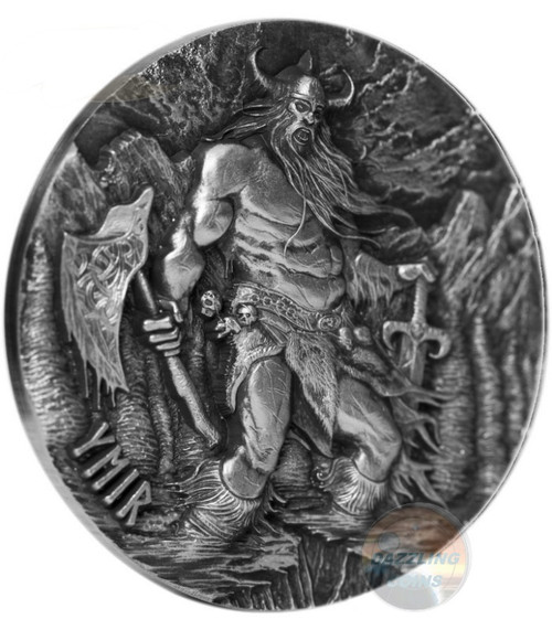 YMIR Legends of Asgard Max Relief 3 Oz Silver Coin 10$ Tokelau 2017