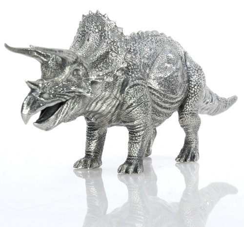 TRICERATOPS – 8 oz Silver 3D STATUE with Serial Number