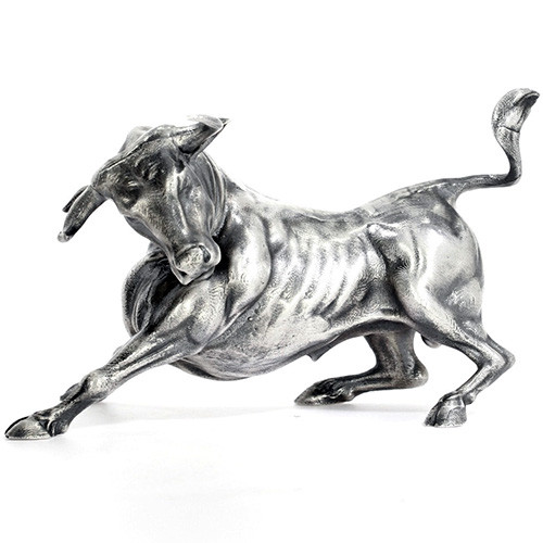 Troy the SILVER BULL – 3D STATUE – 8 oz Silver 3D STATUE - SERIAL NUMBER