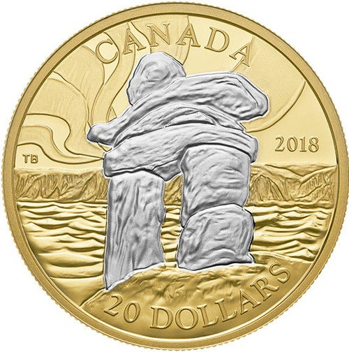 INUKSHUK Guiding The Way 1 Oz Silver Coin 20$ Canada 2018