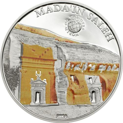 MADA'IN SALEH Saudi Arabia Proof Silver Coin Palau 2013