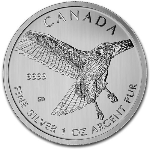 2015  1 oz Silver Birds of Prey Series Red Tailed Hawk