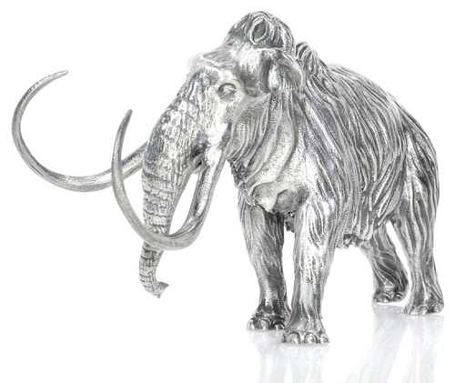 Woolly Mammoth – 8 oz 3D Silver Statue – Unique Serial No.