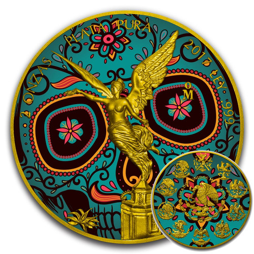 DAY OF THE DEAD – DIA DE MUERTOS – 2017 2 OZ LIBERTAD SILVER COIN