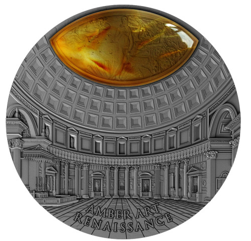 RENAISSANCE - Amber Art 2 Oz Ultra High Relief Silver Coin Niue 2017