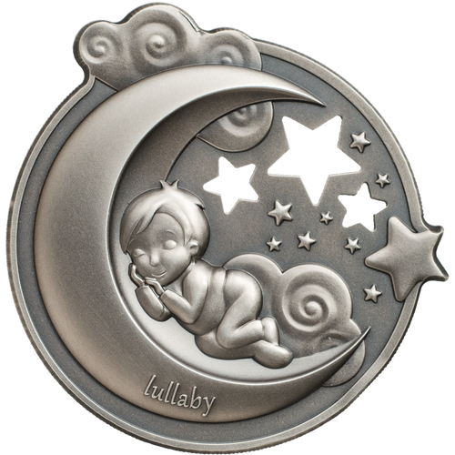 Lullaby - Dreaming Boy $5 1oz Silver Coin - Cook Islands 2018