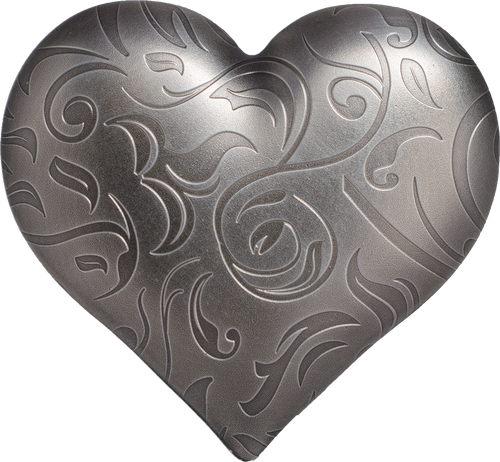 Silver Heart - Precious Heart $5 1oz Silver Coin - Palau 2018