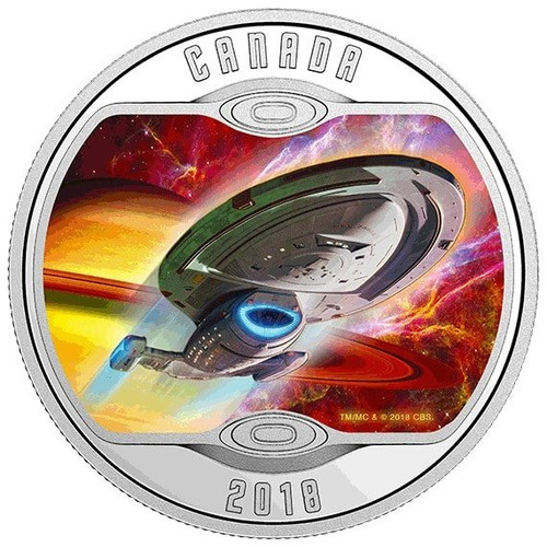 Star Trek™ - VOYAGER NCC-74656 - Silver Glow-in-Dark Coin 2018