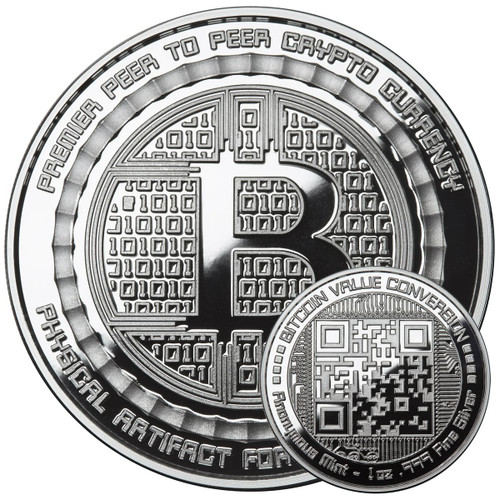 BITCOIN VALUE CONVERSION – 1 OZ SILVER PROOF ROUND