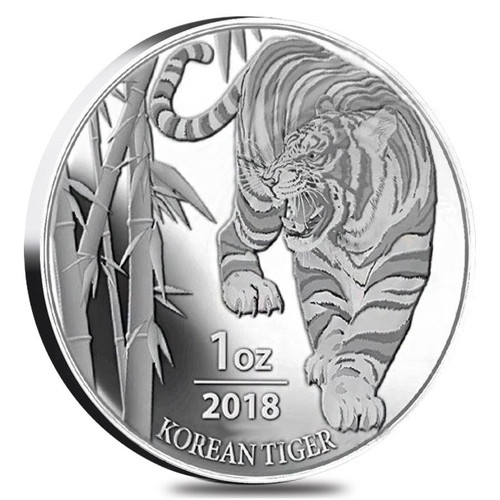 KOREAN TIGER – 2018 1 OZ SILVER MEDAL – SOUTH KOREA KOMSCO