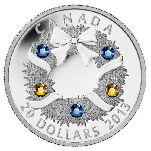 Holiday Wreath - 1 oz. Silver Proof Coin - Canada 2013