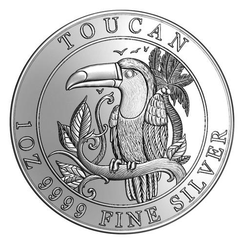 TOUCAN  1oz  9999 Fine Silver Proof 2018 Niue