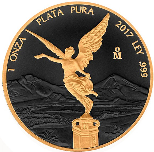 LIBERTAD - GOLD BLACK EMPIRE- 1 OZ SILVER COIN MEXICO 2018 1 oz Silver Coin