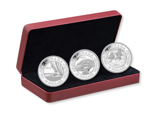 $20 Fine Silver Royal Infant 3-Coin Set Canada 2013