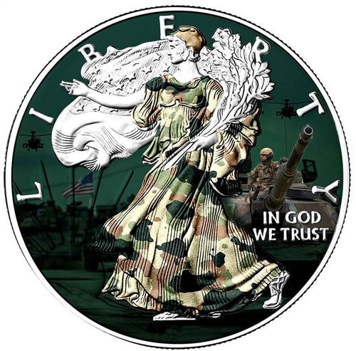 US SILVER EAGLE – MILITARY EDITION – 2018 1 oz Silver Coin