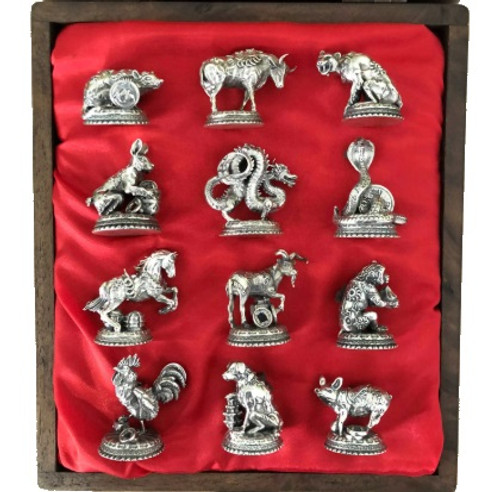 The Zodiac Collector's Set – 3D 30 oz in solid Silver STATUES