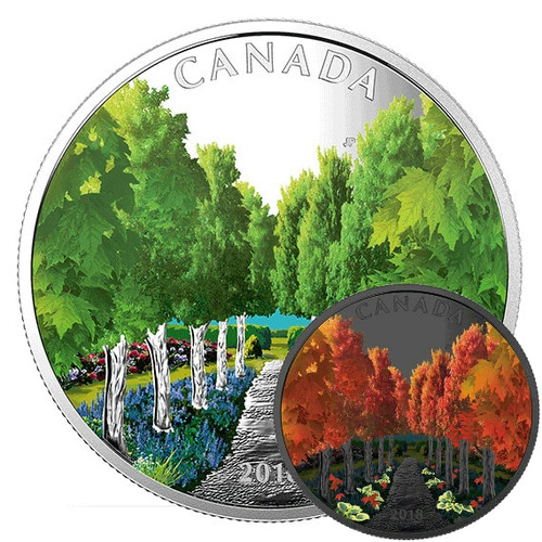 MAPLE TREE TUNNEL– GLOW IN THE DARK - 2018 $20 1 oz Proof Silver Coin