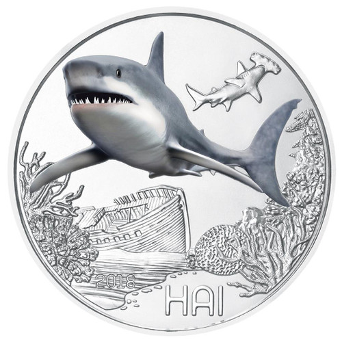 THE SHARK Colorful Creatures - Glow-in-the-Dark Coin Austria 2018