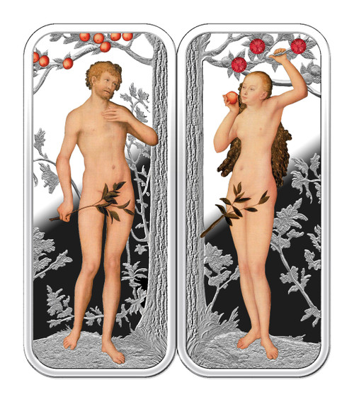 EDEN Adam Eve 2 Silver Coin Set 500 Francs Cameroon 2018