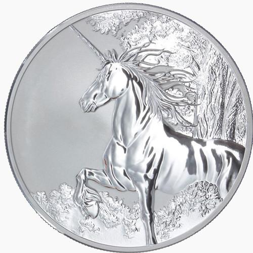 Tokelau 2014 1 oz Reverse Proof Silver $5 UNICORN Coin