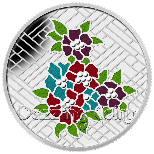 $20 1 oz Fine Silver Coin - Stained Glass: Craigdarroch Castle Canada 2014