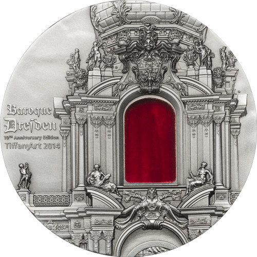 Palau 2014 $10 TIFFANY ART Baroque Dresden 2 Oz .999 Silver Coin