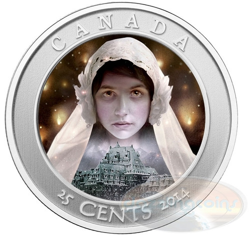 2014 Hologram Colored Coin - Haunted Canada Ghost Bride