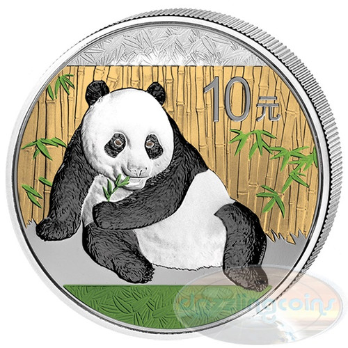 2015 China 10 Y 1 oz. Silver Color Panda