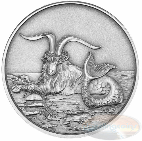2015 Myth & Legend - Capricornus 1oz Silver Antique Finish Tokelau Coin