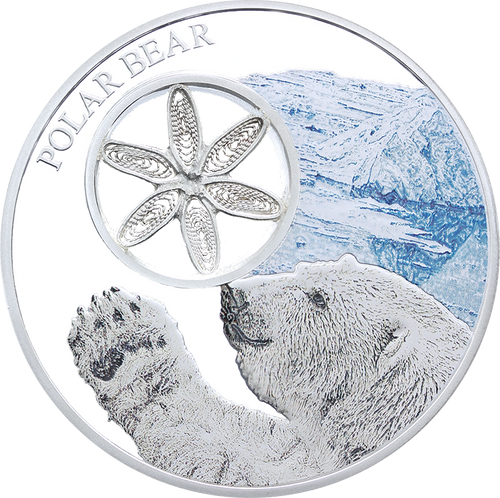 Unicorn Series Opal Gemstone Silver Coin 1000 Francs