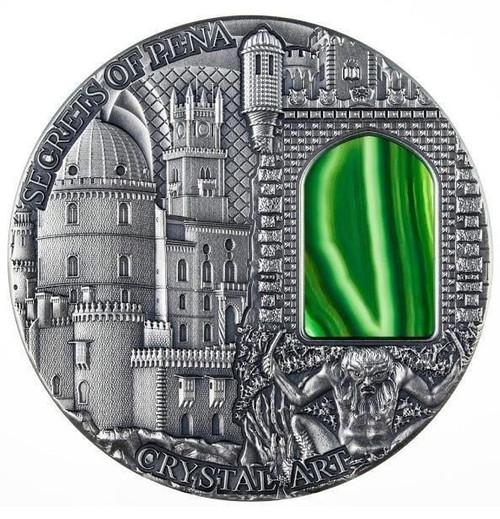 SECRETS OF PENA- Crystal Art 2 oz Silver Coin Niue 2014 $2