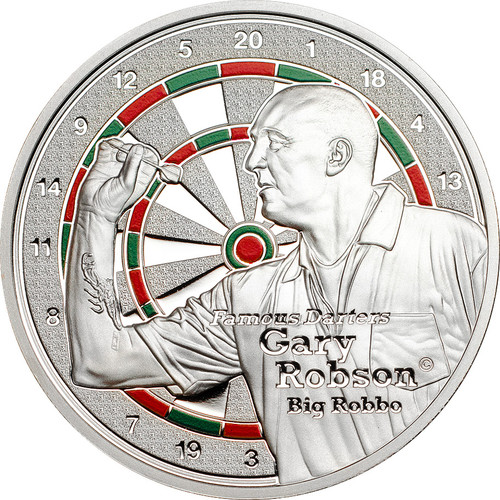 Darters - Gary Robson $1 Colored Proof Cook Islands 2014