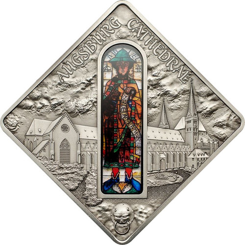Augsburg Cathedral - Sacred Art Silver Coin 10$ Palau 2012