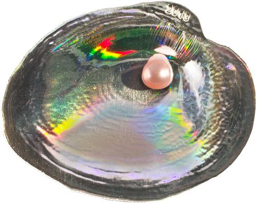 Cyrtonaias Tampicoensis Oyster III Hologram Convex Silver Coin 5$ Palau 2013