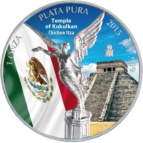 Libertad - Temple of Kukulkan - Chichen Itza 1 oz Silver 2015
